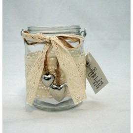 Jar to hang on door tealight