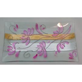 Svuotatasche in vetro dipinto a mano
