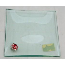 Svuotatasche in vetro con coccinelle