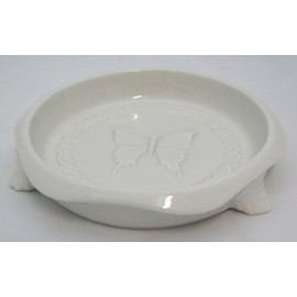 Valet tray ceramic decorated with butterflies