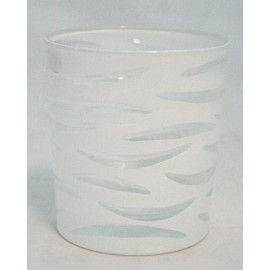 Candle holder in frosted glass with candle Enzo Miccio