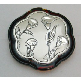Mirror laptop with a plaque of sterling silver 925%