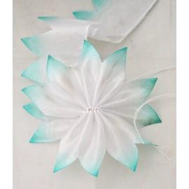 Nastro porta confetti geometrico col. tiffany