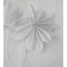 Nastro porta confetti geometrico col. argento