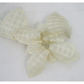 Tape door confetti in organza with. ivory