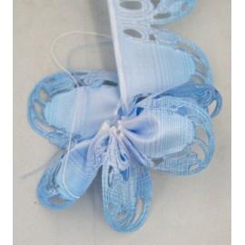 Nastro porta confetti sfumato col. azzurro