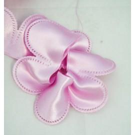 Nastro porta confetti in raso col. rosa