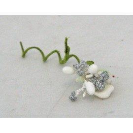 Pistils and berries with. Ivory and silver