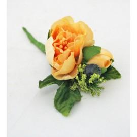 Fabric flower with. Orange