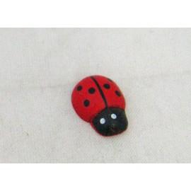 Cabochons Ladybug (medium) col. Red, black