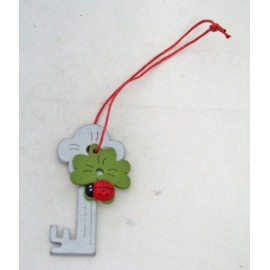 """Key holder """"Key"""" col. Green and silver"""