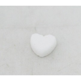 Cabochon heart sugar with. White