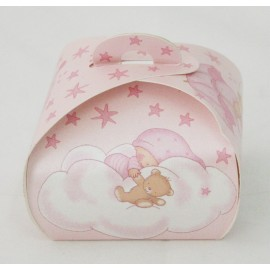 "Box cake ""Stars of pink"" - 5,5x5,5x7cm"