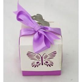 Scatoline con farfalla assortite co. Rosa, Lilla, Verde, Azzurro, Bianco