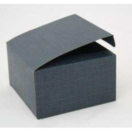 Box-Blue silk - 10x10x6cm
