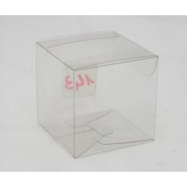 """Box """"Click"""" clear pvc - 5,5x5x5cm"""