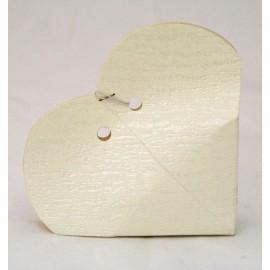 Box heart Slate Ivory - 9x9x2 cm