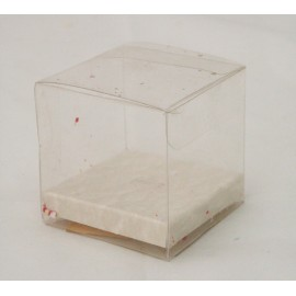 Box square pvc and cardboard with. White