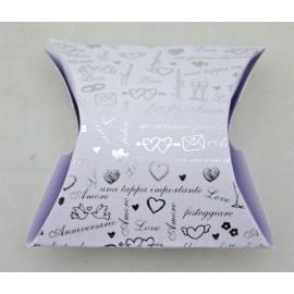 Box Envelope Wedding silver - 8x5x3 cm