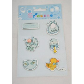 Stickers assorted Baby with. Blue