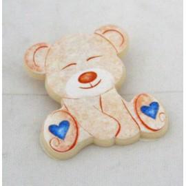 Pendant teddy bear with. Blue