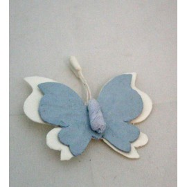 Sticker butterfly fabric col. Blue and white