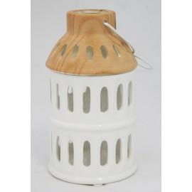 T-light a cilindro in ceramica
