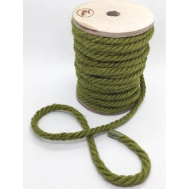 Cordone in juta verde bosco, 12 mm - I nastri di Mirta