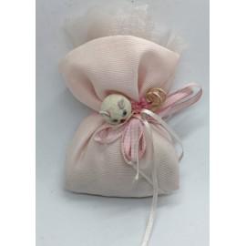 Sacchetto di piquet in cotone rosa
