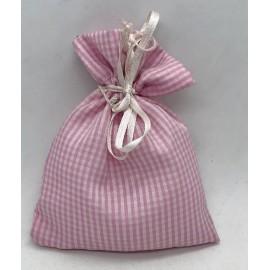 Sacchetto in zephir con tirante rosa