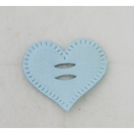 Cabochon heart with. Blue