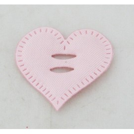 Cabochon heart with. Pink