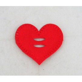 Cabochon heart with. Red