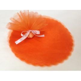 Tulli tondi per bomboniera arancio tondi